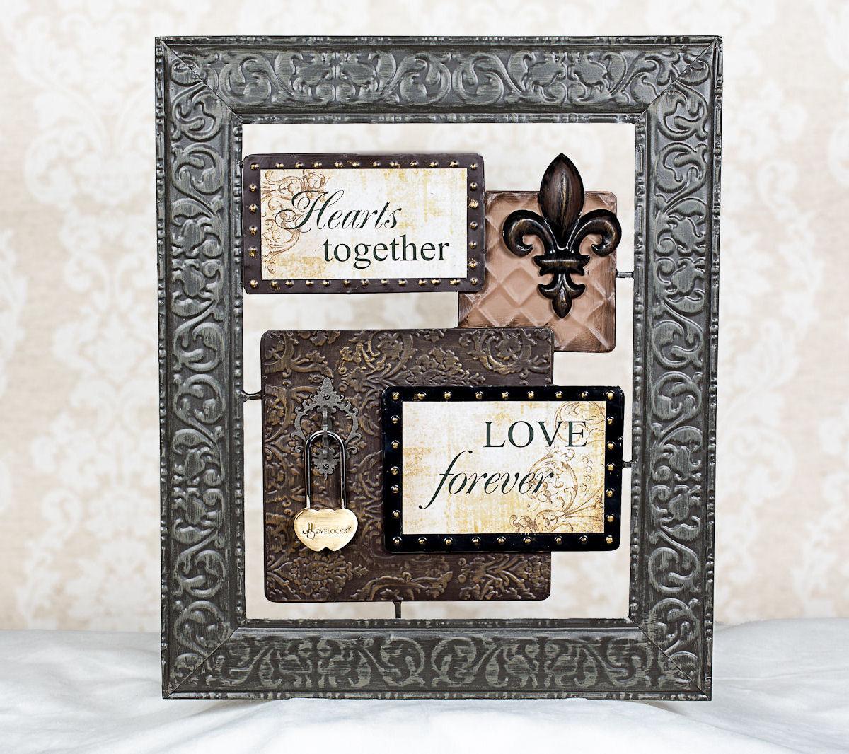 Hearts Together Love Forever Metal Sign