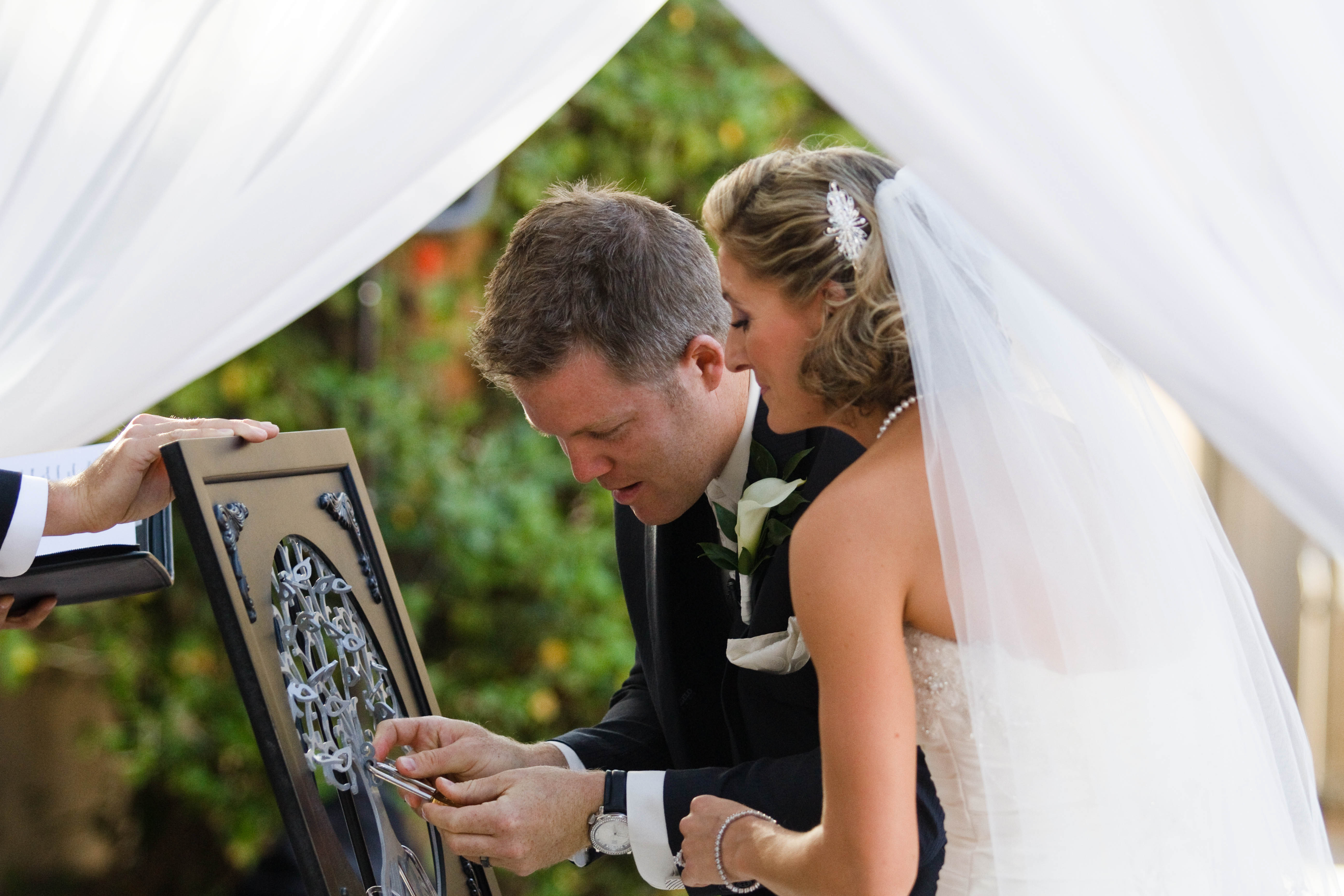 LoveLocks Tree of Life Wedding Ceremony
