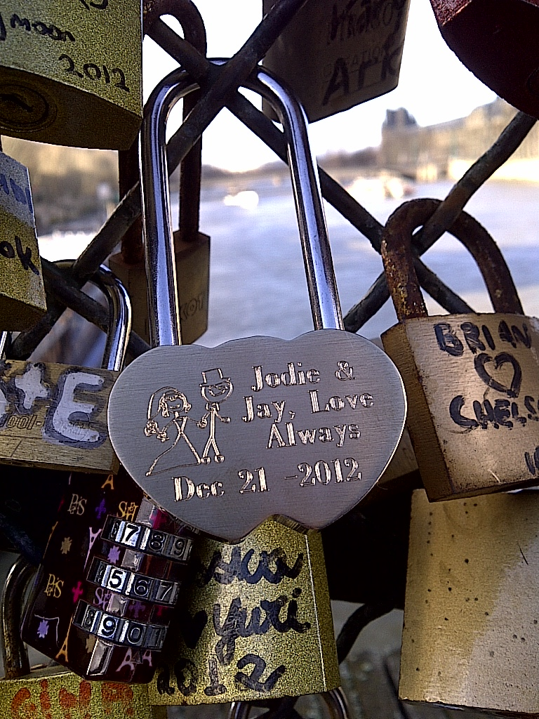 Paris Engraved LoveLocks