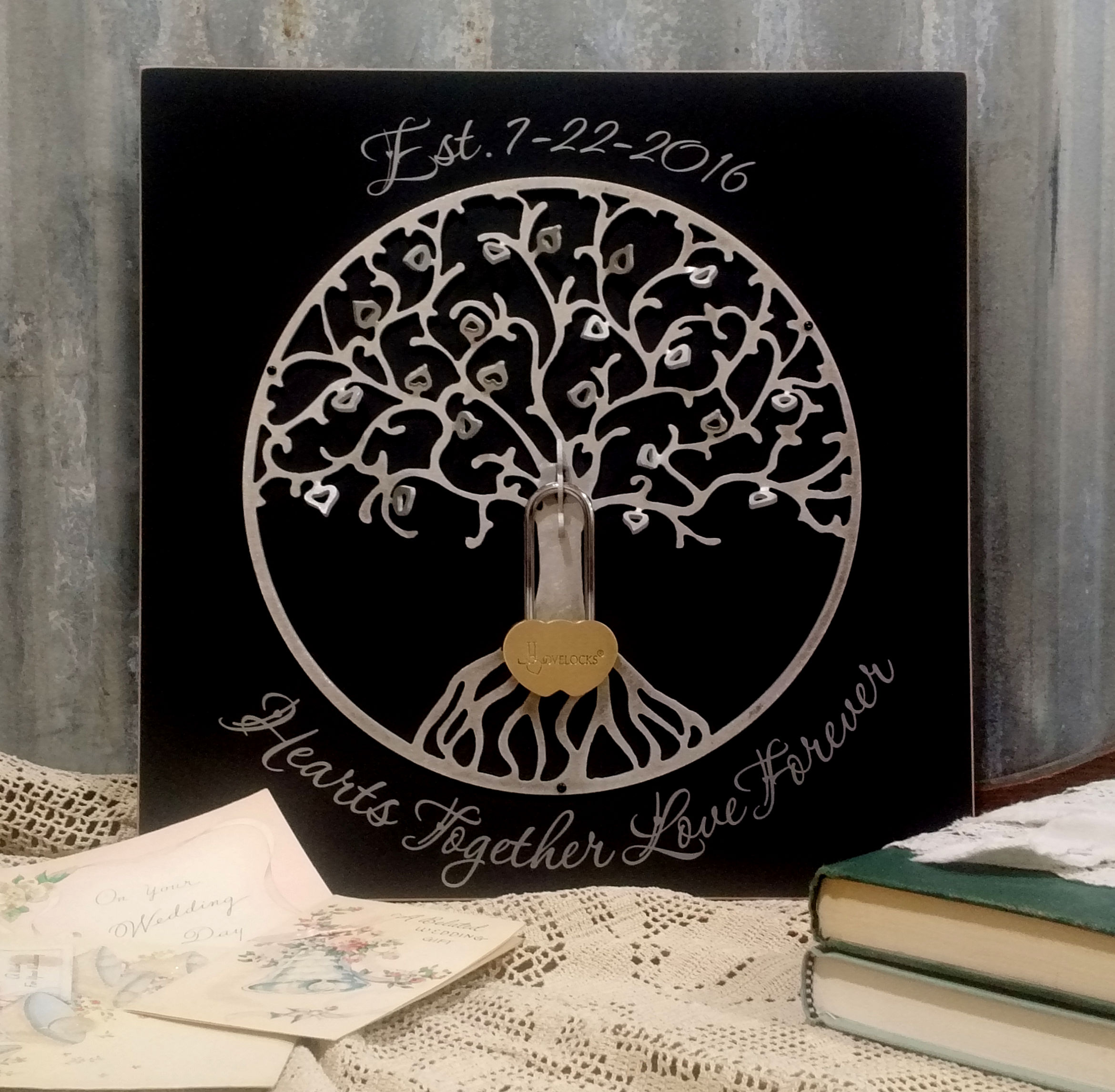 Lovelocks Personalized Tree Of Life Plaque Lovelocks