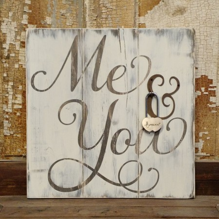 Me & You plaque