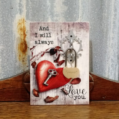 Love you plaque with Lovelock