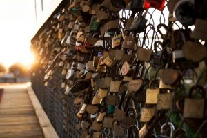 LoveLock Bridge in Napa Valley