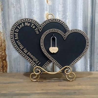 LoveLocks hearts connected
