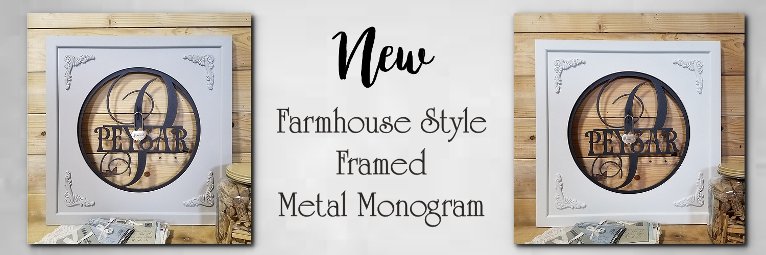 Farmhouse Metal Monogram with Frame