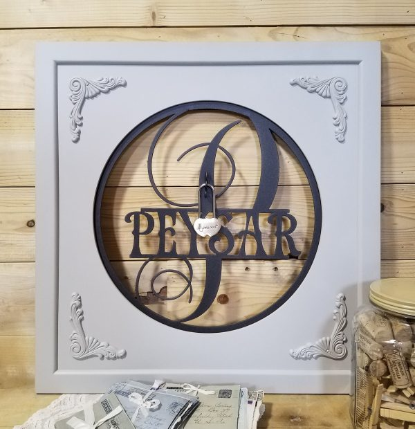 Names Become One Monogram Frame