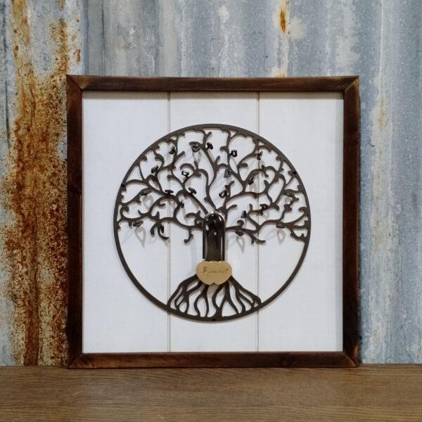 LoveLocks Tree of Life wood sign