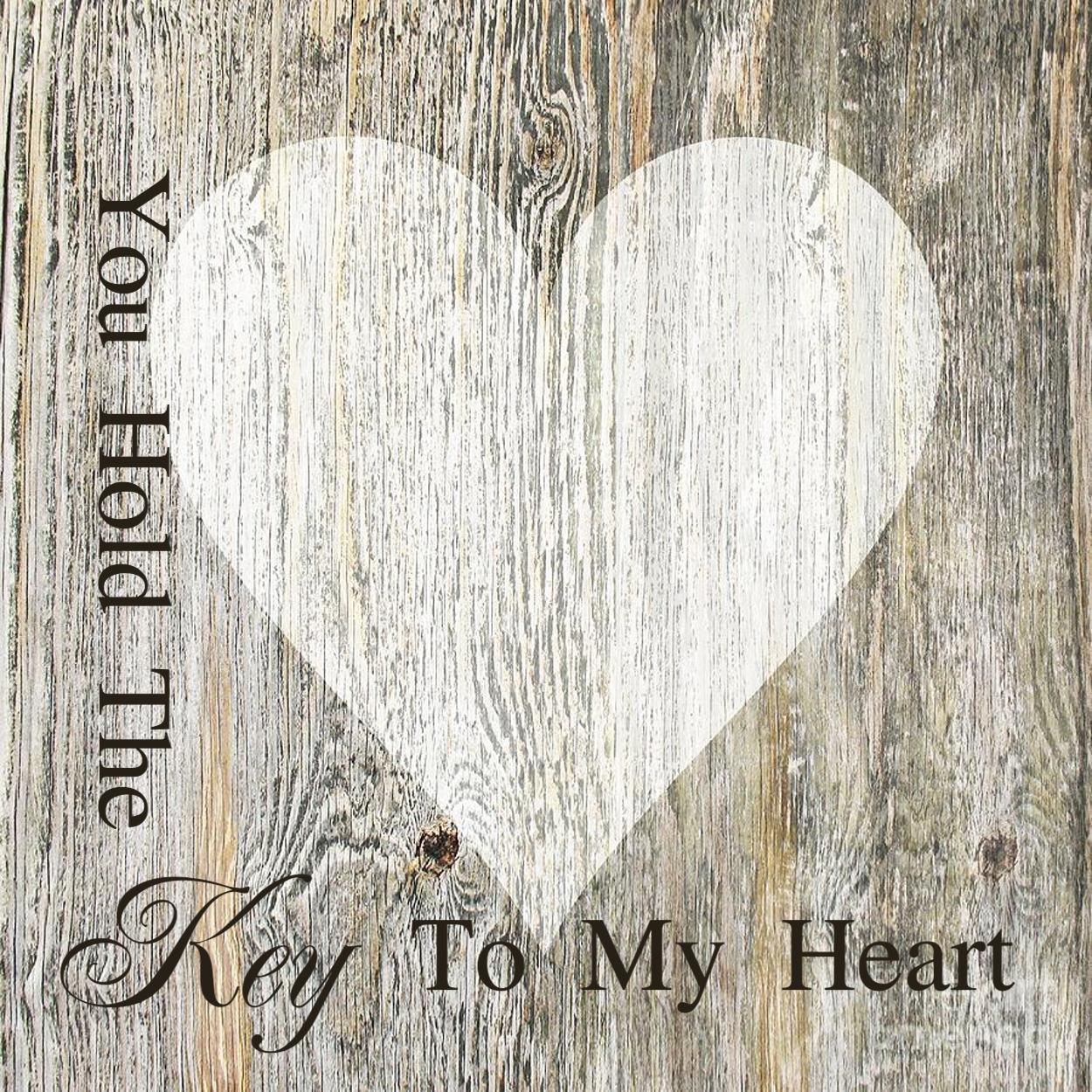 LoveLocks Key to Heart Plaque