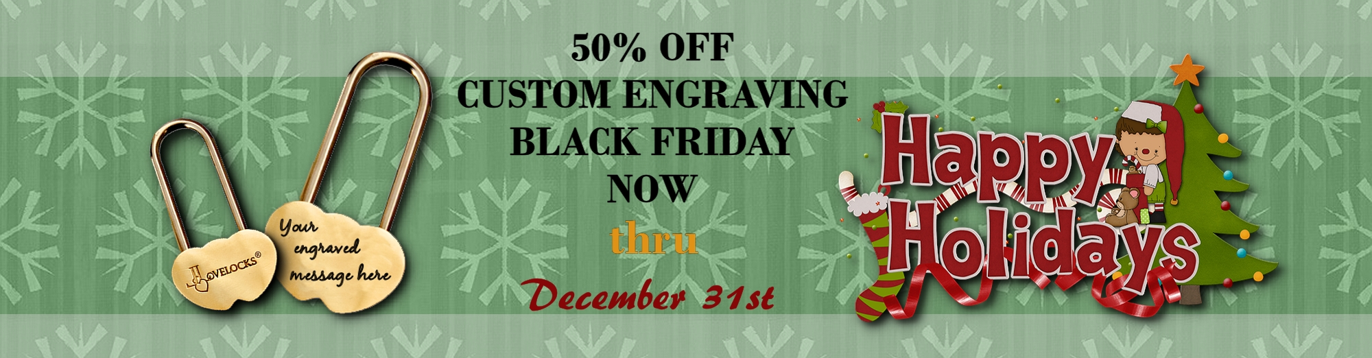 50% Off Custom Engraving